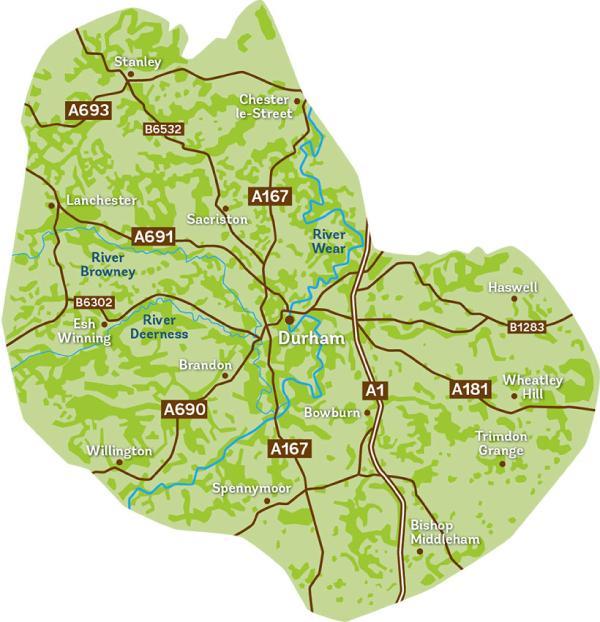 Durham Woodland Revival map